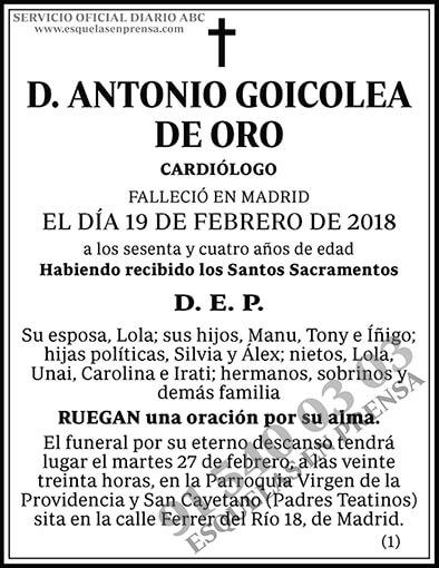 Antonio Goicolea de Oro